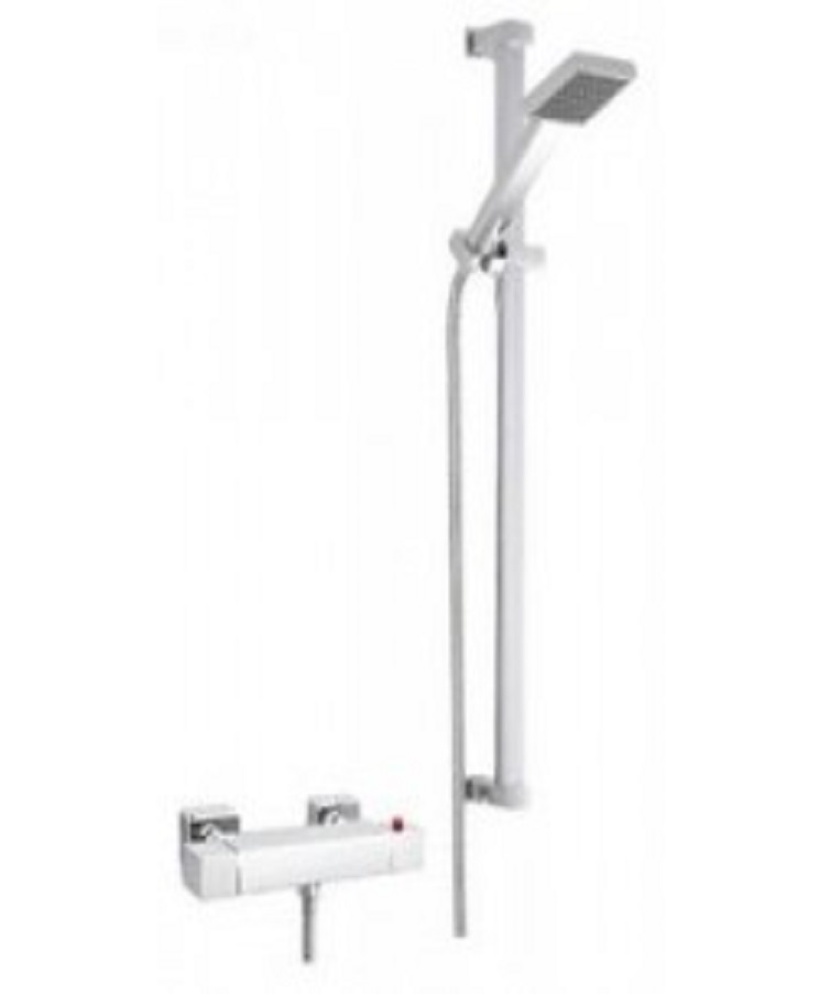 Linea Qube Thermostatic Shower In Stock Bathrooms