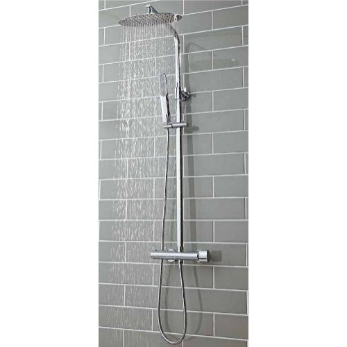 Scudo Marco Oval Shower With Rigid Riser Chrome In Stock